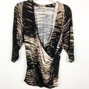 Rachel Roy Long Sleeve Stretchy Blouse | XL